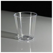 Thali Outlet - 100 x Clear Plastic 50ml 2oz Shot Sampling Glasses Disposable
