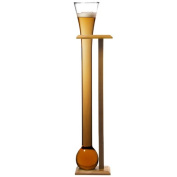 Glass Yard of Ale with Stand | bar@drinkstuff Yard Glass on Birch Wood Stand