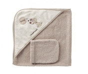 Naf-Naf Baby Towel with Hood and Glove