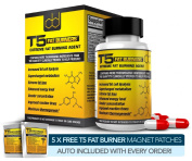 T5 Fat Burner Capsules - Strongest Legal Diet & Weight Loss Pills (1 Month Supply) + 5 FREE T5 FAT BURNER PATCHES