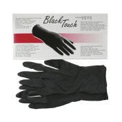 Black Touch Hairdressing Large Latex Powder Free Reusable Washable Gloves 5Pairs