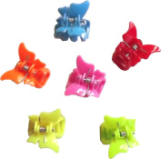 Bright Butterfly Pastic Mini Clamps