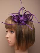Allsorts® Purple Looped Feather Beak Clip Fascinator Ladies Day Weddings Royal Ascot