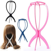 Accessotech Wig Display Stand Mannequin Dummy Head Hat Cap Hair Holder Folding Stable Tool