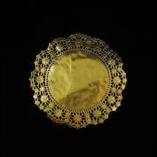 17cm Round Gold Foil Doilies