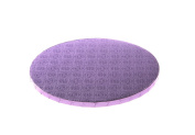 W PACKAGING WPDRM10L Round Cake Drum,1.3cm Thick Corrugated with Sophisticated Embossed Pattern, 25cm , Lilac