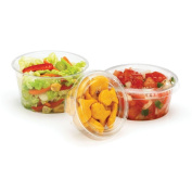 Fabri-Kal 9509322 Greenware Clear 120ml Portion Cup Lid - 2000 / CS