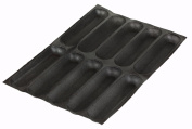 Sasa Demarle SF 01134 Silform Non-Stick Perforated Baking Mat for 30cm Sub Rolls, 10 Moulds