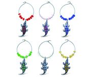Puzzled Metal Alligator Wine Charms