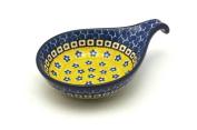 Polish Pottery Spoon/Ladle Rest - Sunburst Pattern