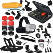 Complete GoPro HERO Accessories Kit for GoPro HERO4 Hero 4, HD Motorsports HERO,GoPro Hero2 Outdoor Edition Digital Cameras Includes