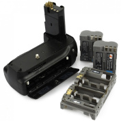 DSTE® Pro MB-D80 Vertical Battery Grip + 2x EN-EL3E for Nikon D80 D90 SLR Digital Camera