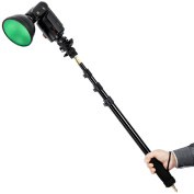 "Godox AD-S13 Portable Light Boom Pole Stick 1/4"" Male Thread for WITSTRO Flash AD180 AD360"