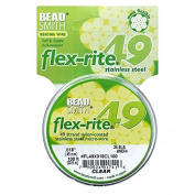 BeadSmith Flex-Rite Beading Wire, 49 Strand .46cm Thick, 30m Spool, Clear