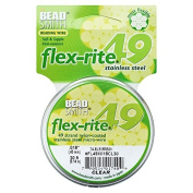 BeadSmith Flex-Rite Beading Wire, 49 Strand .46cm Thick, 9.1m Spool, Clear