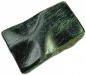 Pendant, Genuine Gemstone Serpentine Wavy 3.8cm Rectangle