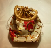 "Organza Jewellery Pouch Wedding Party Favour Gift Bag Handmade Premium Quality (20cm x 13cm x 2"") - 12 Bags"
