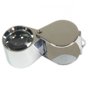 HTS 203D0 30x 21mm Chrome Triplet Jeweller's Loupe With Leather Case