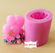 Creativemoldstore 1pcs New 8*6.2*4.5CM 3D Double Love(LZ0137) Silicone Handmade Candle Mould Craft DIY Mould