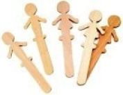 Chenille Kraft 15cm . Wood People Craft Stick, Pack - 36