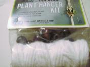 Vintage Fibre Craft 110cm White Macrame Plant Hanger Kit Style 2143A