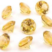 Adorox Mini Acrylic Crystal Gems Diamond Vase Filler Confetti Table Scatter Pirate Treasure (Light Brown