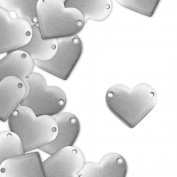 ImpressArt, Pewter Stamping Blanks, Heart w/ Holes, 2.5cm x 2.2cm - 24 pc.