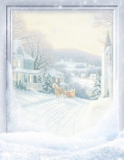 Geographics - Winter II Christmas Letterhead, 22cm x 28cm , 80/PK