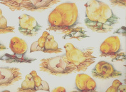 Baby Chicks Rolled Decorative Gift Wrap Paper - 2 Full Sheets