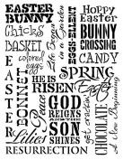 Easter Background Word Art Stencil - 28cm x 38cm