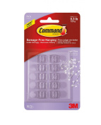 Command 17806CLR-ES Party Light Clips, Clear, 10-Clips, ,