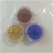 Lot of 3 Sample Matte 3 Gramme Jar Powders Soap Making Red Iron Yellow Oxides Cosmetic Pigments Ultramarine Blue Colourants