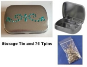 Bling Storage Tin with 75 T-Pins