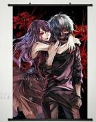 Home Decor Anime Tokyo Ghoul Wall Scroll Poster Fabric Painting Kaneki Ken & Kamishiro Rize 165 L