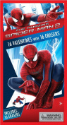 Spiderman Valentine's Day Cards with Erasers - 16 Count