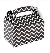 12 Black Chevron Treat Boxes