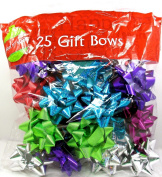 Holiday Gift Bows,25x Assorted,peel & Stick