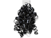 BLACK High Gloss Curly Bows12 Strands
