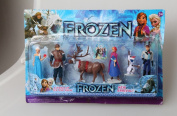 Movie Frozen Anna Elsa Hans Kristoff Sven Olaf PVC Action Figures Toys Dolls New in Retail Box 6pcs/set in Retail Box