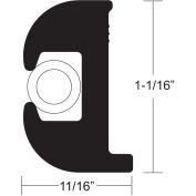TACO Flex Vinyl Rub Rail Kit - Black w/White Insert - 50' - 2.5cm - 0.2cm x 1.7cm