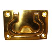 Whitecap Flush Pull Ring - Polished Brass - 7.6cm x 5.1cm