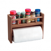 Whitecap Teak Paper Towel Holder w/Spice Rack