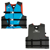 Stearns Youth Antimicrobial Nylon Vest Life Jacket - 50-90lbs - Abstract Wave