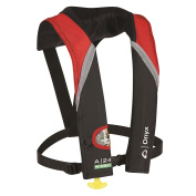 Onyx A-60cm -Sight Automatic Inflatable Life Jacket - Red/Grey