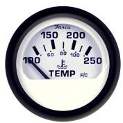 Faria Euro White 5.1cm Water Temperature Gauge
