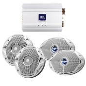 JBL MS6510 & MS9520 Speakers & MA6004 Amp Package - (2) 17cm Speakers, (2) 15cm x 23cm Speakers & (1) 4-Channel Amp