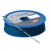 FSE Robline Waxed Tackle Yarn Whipping Twine Kit w/Needle - Blue - 0.8mm x 80M