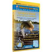 Fishing Hot Spots Pro USA Fishing Chip - Freshwater Inland Lakes Coverage 2015