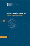Dispute Settlement Reports 2013