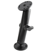 RAM Mount 2.5cm Diameter Ball Mount w/Long Double Socket Arm & 2/6.4cm Round Bases - AMPS Hole Pattern